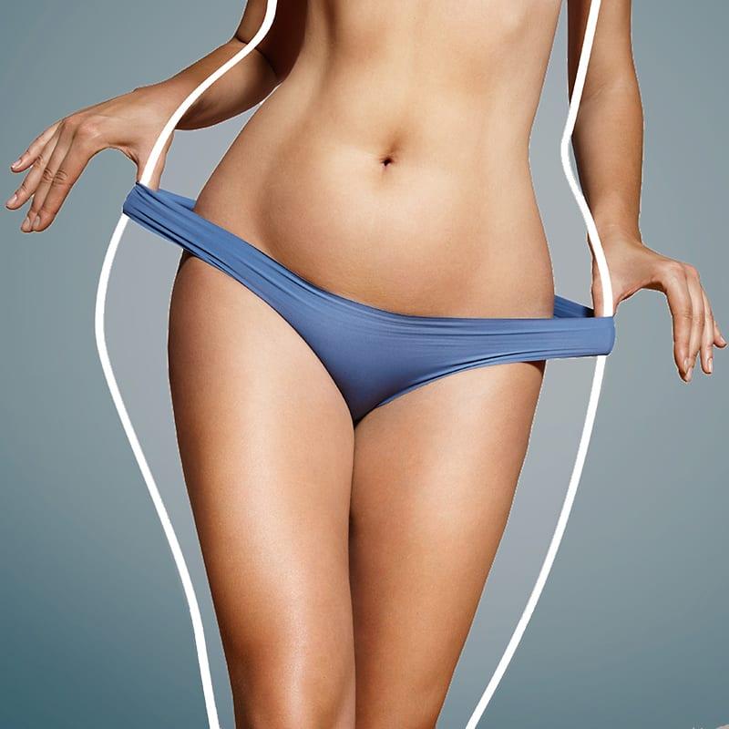 Die Wirkung des Body Contouring an weiblichem Körper im Kosmetikstudio Konstanz